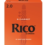 Rico RCA1020 Bb Clarinet Reeds, Strength 2, 10-pack