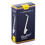 Vandoren CR1435 Alto Clarinet Traditional Reeds Strength #3.5; Box of 10