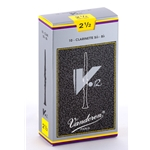 Vandoren CR1925 Bb Clarinet V.12 Reeds Strength #2.5; Box of 10