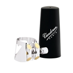 Vandoren LC01P Optimum Ligature and Plastic Cap for Bb Clarinet; Silver-Plated; Includes 3 Interchangeable Pressure Plates