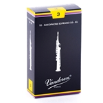 Vandoren SR203 Soprano Sax Traditional Reeds Strength #3; Box of 10