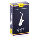 Vandoren SR2135 Alto Sax Traditional Reeds Strength #3.5; Box of 10