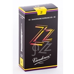 Vandoren SR402 Soprano Sax ZZ Reeds Strength #2; Box of 10