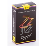 Vandoren SR4025 Soprano Sax ZZ Reeds Strength #2.5; Box of 10