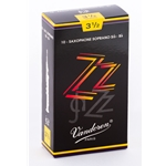 Vandoren SR4035 Soprano Sax ZZ Reeds Strength #3.5; Box of 10