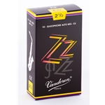 Vandoren SR4125 Alto Sax ZZ Reeds Strength #2.5; Box of 10
