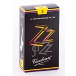 Vandoren SR413 Alto Sax ZZ Reeds Strength #3; Box of 10