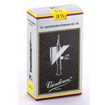 Vandoren SR6035 Soprano Sax V.12 Reeds Strength #3.5; Box of 10