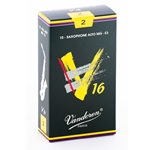 Vandoren SR702 Alto Sax V16 Reeds Strength #2; Box of 10