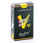 Vandoren SR7025 Alto Sax V16 Reeds Strength #2.5; Box of 10