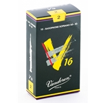 Vandoren SR712 Soprano Sax V16 Reeds Strength #2; Box of 10