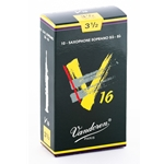 Vandoren SR7135 Soprano Sax V16 Reeds Strength #3.5; Box of 10