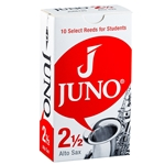 Juno by Vandoren JSR6125 Alto Sax Reeds; Strength #2.5; Box of 10