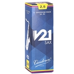 Vandoren SR8225 Tenor Sax V21 Reeds Strength #2.5; Box of 5
