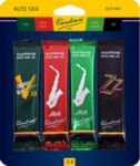 Vandoren SRMIXA25 Alto Sax Jazz Reed Mix Card includes 1 each ZZ, V16, Java and Java Red Strength #2.5