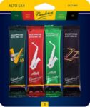 Vandoren SRMIXA3 Alto Sax Jazz Reed Mix Card includes 1 each ZZ, V16, Java and Java Red Strength #3