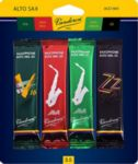 Vandoren SRMIXA35 Alto Sax Jazz Reed Mix Card includes 1 each ZZ, V16, Java and Java Red Strength #3.5