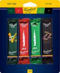 Vandoren SRMIXS25 Soprano Sax Jazz Reed Mix Card includes 1 each ZZ, V16, Java and Java Red Strength #2.5