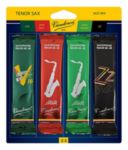 Vandoren SRMIXT25 Tenor Sax Jazz Reed Mix Card includes 1 each ZZ, V16, Java and Java Red Strength #2.5