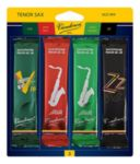 Vandoren SRMIXT3 Tenor Sax Jazz Reed Mix Card includes 1 each ZZ, V16, Java and Java Red Strength #3