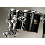 PEARL  Pearl PTE060846 6&8 Concert Poplar-Kapur Concert Tom set with stand, MIDNIGHT BLACK
