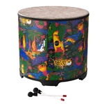 Remo  KD-5222-01  Kids Percussion® Gathering Drum - Fabric Rain Forest, 22""