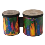 "Remo  KD-5400-01  Kids Percussion® Bongo Drum - Fabric Rain Forest, 5""-6"""
