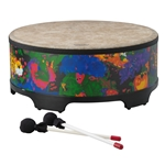 Remo  KD-5818-01  Kids Percussion® Gathering Drum - Fabric Rain Forest, 18""