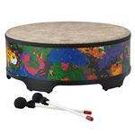 Remo  KD-5822-01  Kids Percussion® Gathering Drum - Fabric Rain Forest, 22""