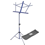 On-Stage  SM7122DBB Compact Sheet Music Stand, Dark Blue w/ bag