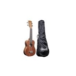 Amahi UK120S Soprano Ukulele, Mahogany, satin finish, AQUILA NYLGUT Strings