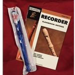Tudor TD180BL-BOOK  Candy Apple Recorder Bundle Pack (w/ Blue Recorder & Book)