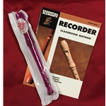 Tudor TD180PR-BOOK  Candy Apple Recorder Bundle Pack (w/ Purple Recorder & Book)