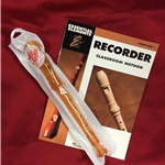 Tudor TD180GD-BOOK  Candy Apple Recorder Bundle Pack (w/ Gold Recorder & Book)