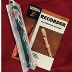 Tudor TD180GR-BOOK  Candy Apple Recorder Bundle Pack (w/ Green Recorder & Book)