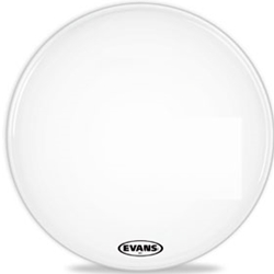 "Evans BD24MX1W 24"" MX1 MARCH BASS WHT"