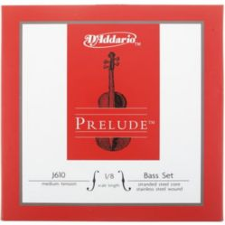 Prelude by D'addario  Prelude by Daddario J610 1/8M Bass String Set, 1/8 Scale, Medium Tension