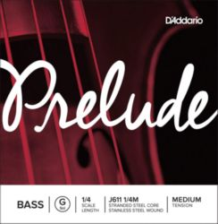 Prelude by Daddario J611 1/4M Bass Single G String, 1/4 Scale, Medium Tension