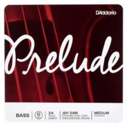 Prelude by Daddario J611 3/4M Bass Single G String, 3/4 Scale, Medium Tension