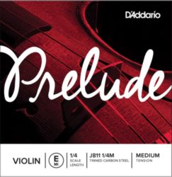 Prelude by Daddario J811 1/4M Violin Single E String, 1/4 Scale, Medium Tension