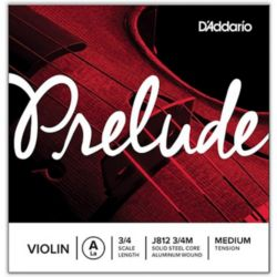 Prelude by D'addario  Prelude by Daddario J812 3/4M Violin Single A String, 3/4 Scale, Medium Tension