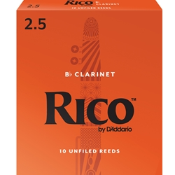Royal by Daddario RCB1025 Bb Clarinet Reeds, Strength 2.5, 10-pack