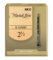 Mitchell Lurie Bb CLARINET Clarinet Reeds, Strength 2.5, 10-pack