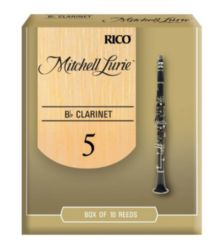 Mitchell Lurie RML10BCL500 Bb Clarinet Reeds, Strength 5.0, 10 Pack