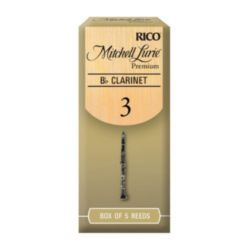 Mitchell Lurie RMLP5BCL300 Premium Bb Clarinet Reeds, Strength 3.0, 5 Pack
