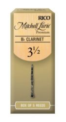 Mitchell Lurie RMLP5BCL350 Premium Bb Clarinet Reeds, Strength 3.5, 5 Pack