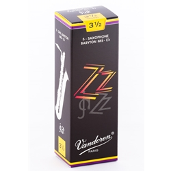 Vandoren SR4435 Bari Sax ZZ Reeds Strength #3.5; Box of 5