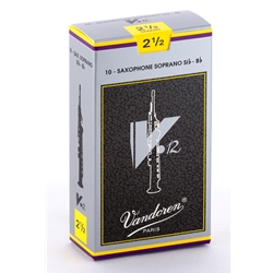 Vandoren SR6025 Soprano Sax V.12 Reeds Strength #2.5; Box of 10