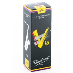 Vandoren SR7235 Tenor Sax V16 Reeds Strength #3.5; Box of 5