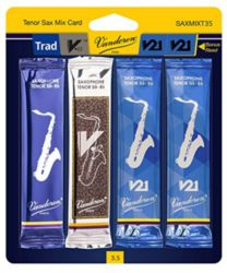 Vandoren SAXMIXT35 Tenor Sax Classical Mix Card #3.5